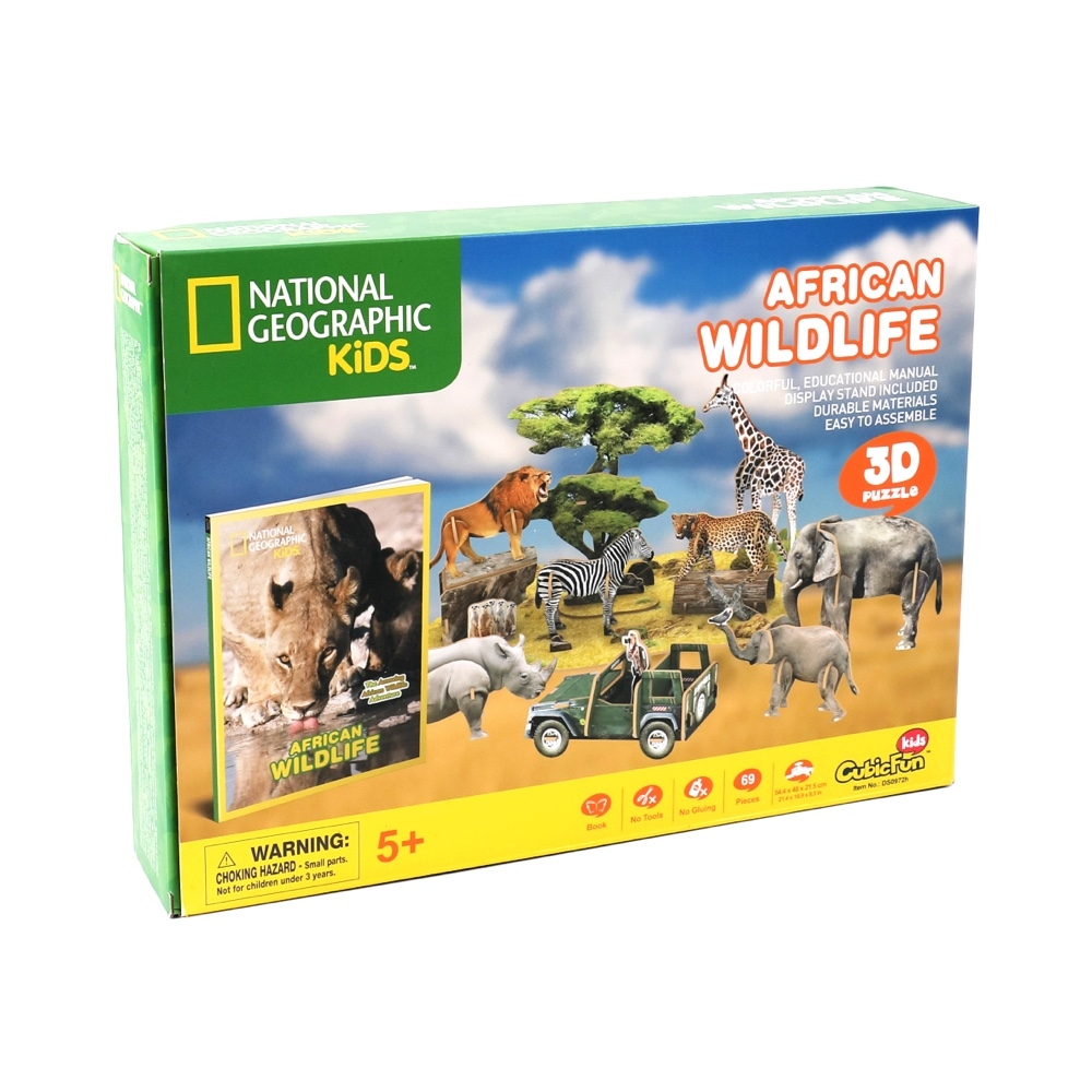 Main National Geographic African Wildlife 3D Puzzle image
